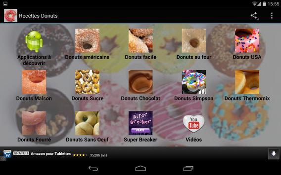 Recettes de Donuts apk screenshot