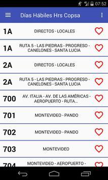 Ver Copsa Horarios Uruguay (no oficial) screenshot 1