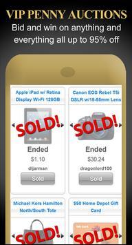 VIP Penny Auctions App ★ FREE apk screenshot