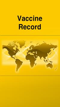 Vaccine Record for Travellers poster