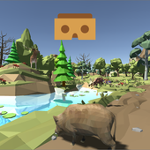 Forest animals VR Cardboard icon