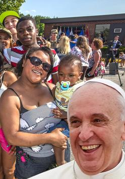 Selfie with Pope Franciscus poster