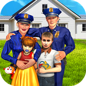 Virtual Family Life Adventure: Police Games 2018 icon