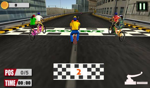 3D bicycle racing apk screenshot