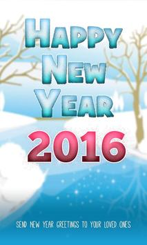 Happy New Year 2016 poster