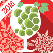 New Year Countdown and Grapes icon