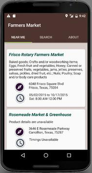 Farmers Market Locator poster