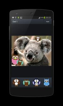 Photo Decorate Owl Stickers 1 apk screenshot