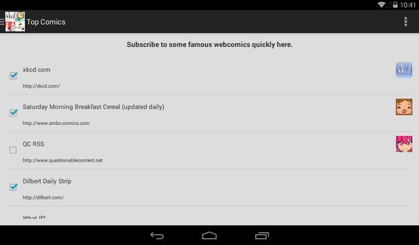 My WebComic Reader apk screenshot