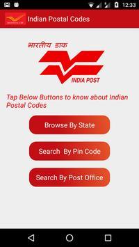 Indian Post Pin codes Finder capture d'écran 1