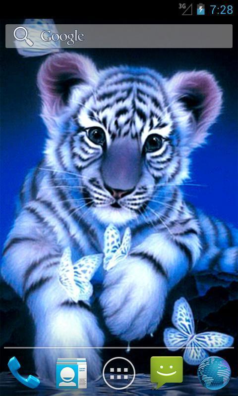 Blue Tiger Live Wallpaper Poster Apk Screenshot