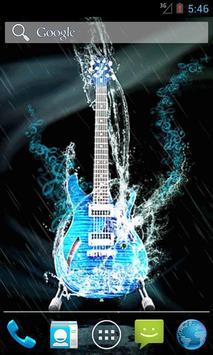 Water Guitar Live Wallpaper poster