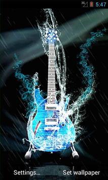 Water Guitar Live Wallpaper screenshot 1