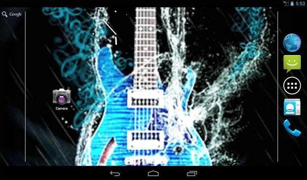Water Guitar Live Wallpaper screenshot 4