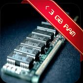 Potenciador de RAM < 3 GB icono