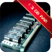 < 3 GB RAM Booster icon