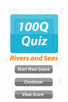 Rivers and Seas - 100Q Quiz poster