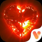Red Golden Luxury Heart Keyboard Theme icon