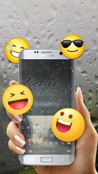Pure Rain Drops Free Emoji Theme screenshot 2