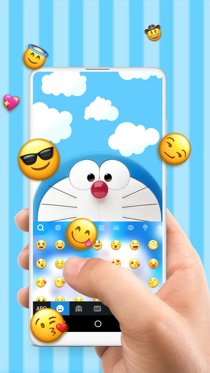 Blue Robot Cat Doraemon Free Emoji Theme for Android - APK