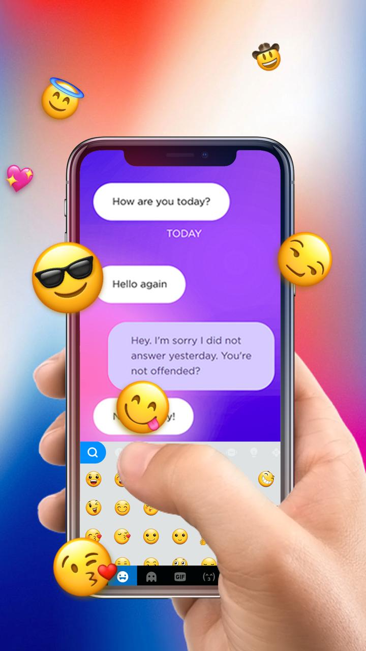 IphoneX IOS11 Free Emoji Keyboard for Android - APK Download