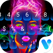 Neon portrait Keyboard Theme icon