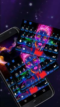 Neon portrait Keyboard Theme poster