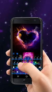 Neon portrait Keyboard Theme screenshot 1