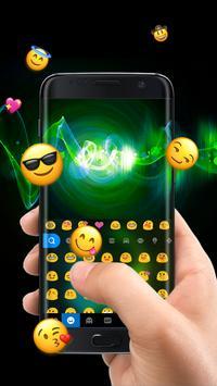 2 Schermata Neon Music Headphone Keyboard Theme