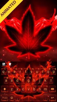 Neon Red Weed Free Keyboard poster
