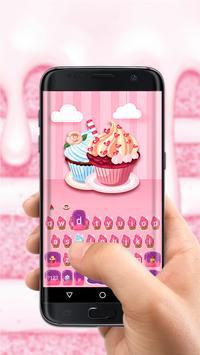 Pink Sweet Cupcake Free Emoji Theme screenshot 1