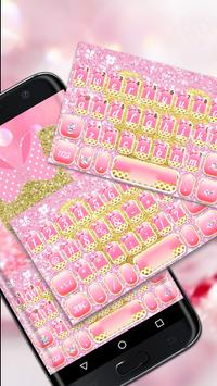 Pink Bow Minnies Keyboard theme poster