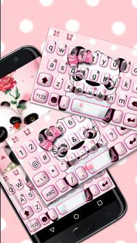 Lovely Panda Keyboard Theme poster