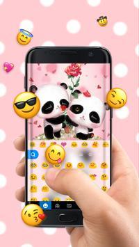 Lovely Panda Keyboard Theme screenshot 2