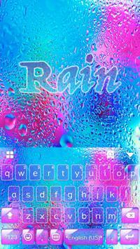 Colorful Rain Free Emoji Theme poster