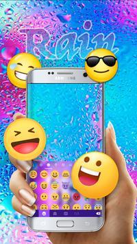 Colorful Rain Free Emoji Theme screenshot 2
