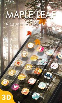 Maple Leaf 3D V Launcher Theme poster
