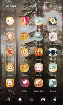 Maple Leaf 3D V Launcher Theme apk screenshot