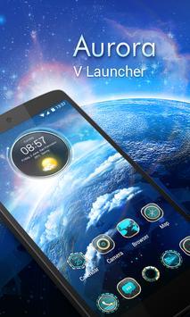 Aurora 3D V Launcher Theme Cartaz