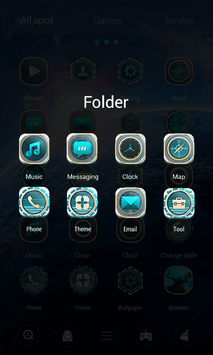 Aurora 3D V Launcher Theme screenshot 3
