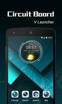 Circuit Board 3D  V Launcher Theme poster