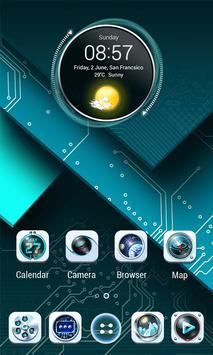 Circuit Board 3D  V Launcher Theme apk screenshot