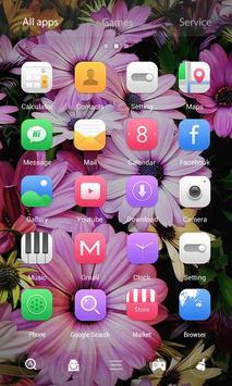 Flowers 3D V Launcher Theme apk screenshot