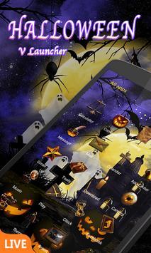 Halloween Dynamic V Launcher Theme poster