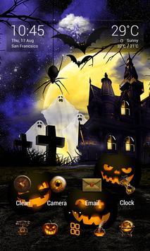 Halloween Dynamic V Launcher Theme screenshot 1