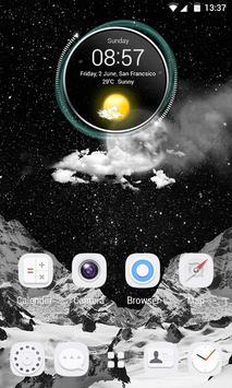 Snow Top 3D V Launcher Theme apk screenshot