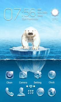 The Polar Bear 3D V Launcher Theme apk screenshot