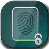 Finger Print screen lock prank icon