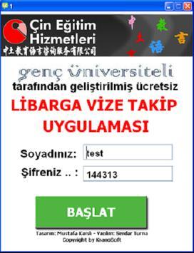 Vize Takip Uygulaması poster