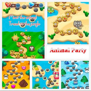 Animal Party Match 3 Game apk screenshot